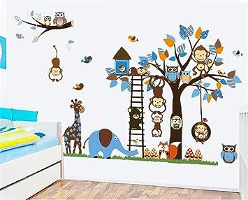 Learned Owl Scroll Tree Hoot Iii Wall Decal Art Nursery Stickers Removable Baby Decor Fast Color Nursery Décor