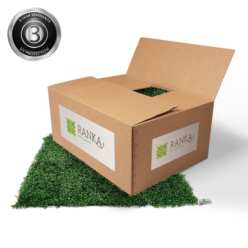 Ranka Artificial Boxwood Greenery Panels - Dark Green 6 PACK of 40x40 inch panels (covering 64.5 sqft.)