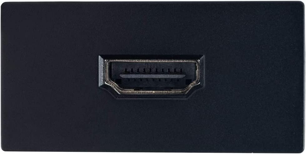 M/ódulo Toma Doble HDMI Negro