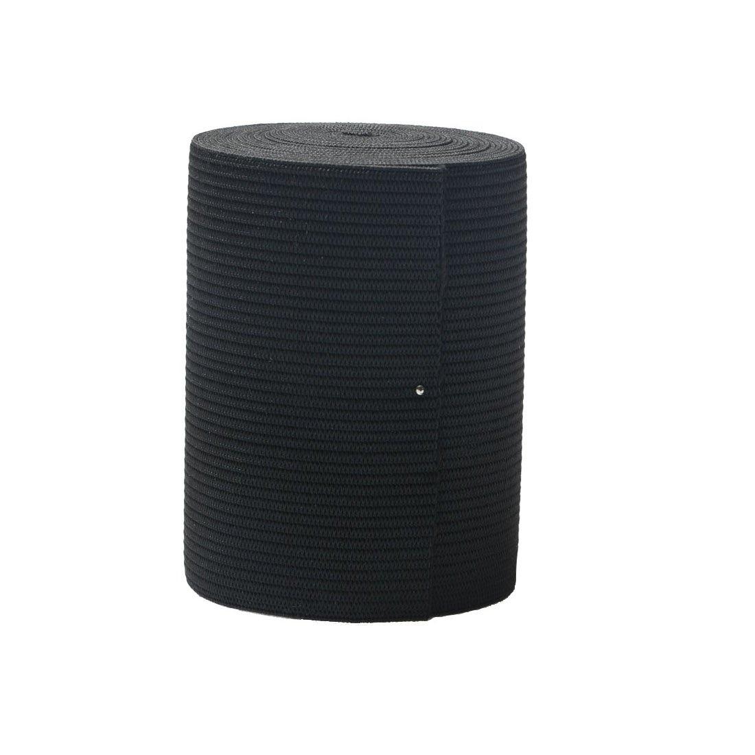 RERIVER 3-inch Wide Black Heavy Knit Stretch ELASTIC 3 Yards(3'', black)