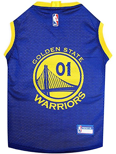 GOLDEN STATE WARRIORS Dog Jersey ★ ALL SIZES ★ Licensed NBA -