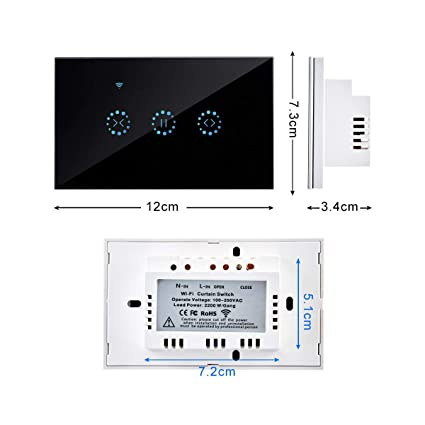 Automatic Curtain Control System - Wifi Electrical Touch