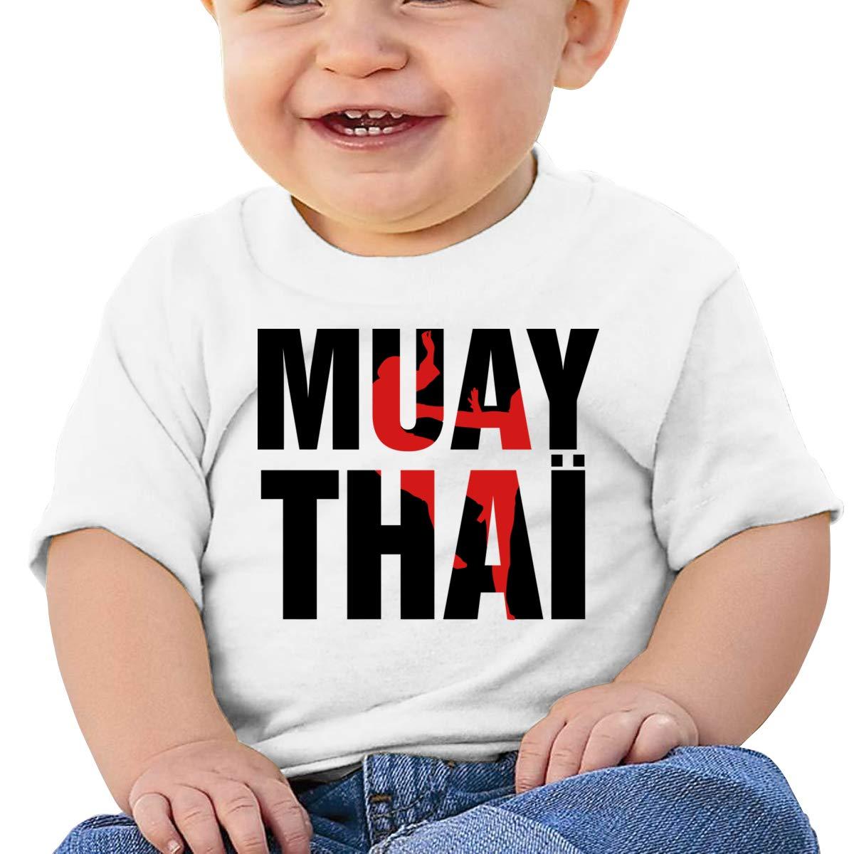 Qiop Nee Muay Thai Letter Short-Sleeve Tshirt Baby Boy