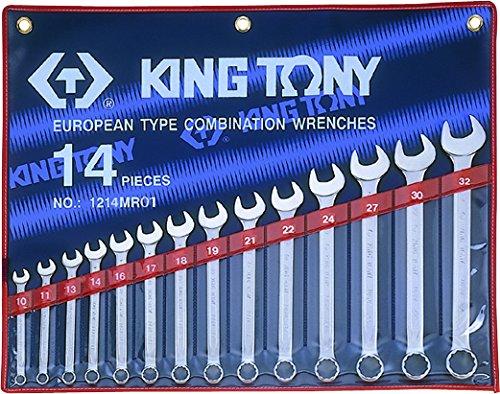 King T. 1214MR01-Astuccio con chiavi miste metriche, confezione da 14