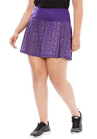 4f5129ccd2b fullbeauty SPORT Women s Plus Size Pleated Skort at Amazon Women s ...
