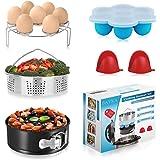 BAYKA Pressure Cooker Accessories Set Compatible with Instant Pot 5,6,8 QT, Steamer Basket, Springform Pan, Bites Molds, Egg Rack, Mini Mitts