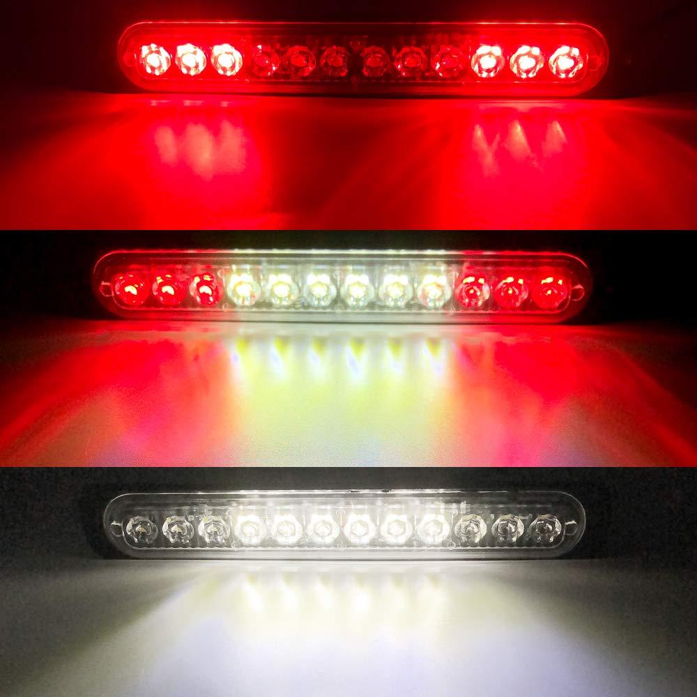Emergency Strobe Lights Hazard Warning lights 12 LED Amber Surface Mount for Construction Vehicle Car Truck 12-24V Waterproof 10 Flashing Mode Recovery Breakdown Beacon Light Bar-2 Pack