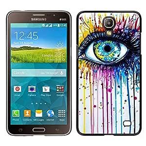 EJOY---Cubierta de la caja de protección para la piel dura ** Samsung Galaxy Mega 2 ** --Azul Crayon fusión del color del arco iris