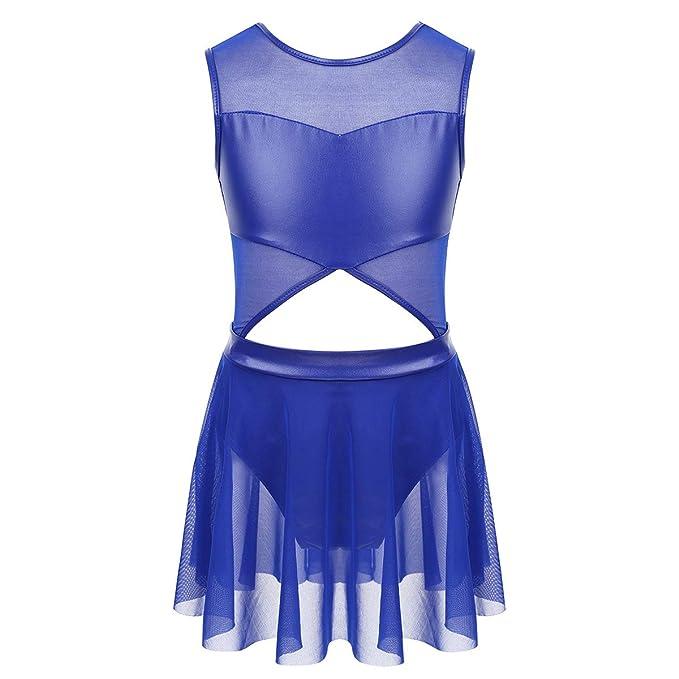 dPois Vestido de Baile Danza para Niña Maillot con Falda Vientre ...