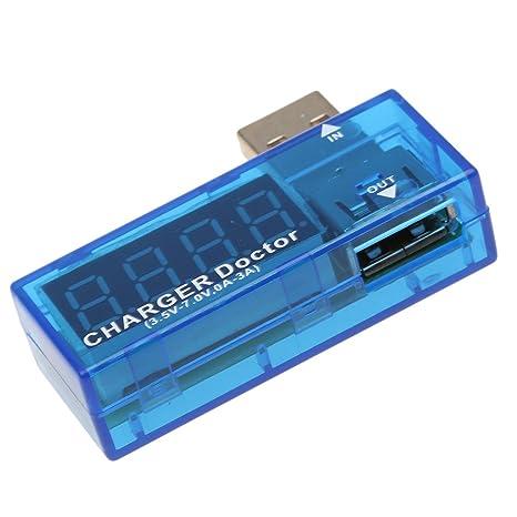 Sharplace USB Cargador Voltaje Corriente Medidor Móvil Batería Detector de Energía