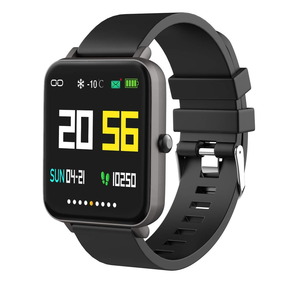 Foronechi Smart Watch for Android/Samsung/iPhone, Activity Fitness Tracker with IP68 Waterproof for Men Women & Kids, Smartwatch with 1.54'' Full-Touch Color Screen, Heart Rate & Sleep Monitor by Foronechi