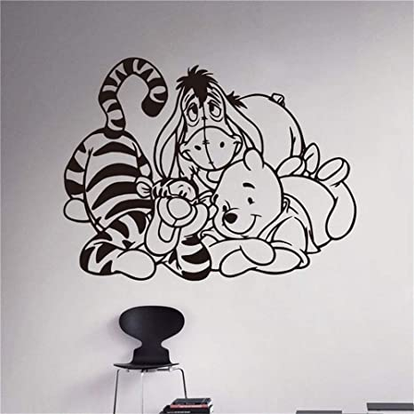 Winnie Pooh Ferkel Tigger Wandtattoo Kinder Art Design