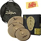 Zildjian L80 Low Volume Cymbal Set Bundle with Gig Bag, Polishing Cloth