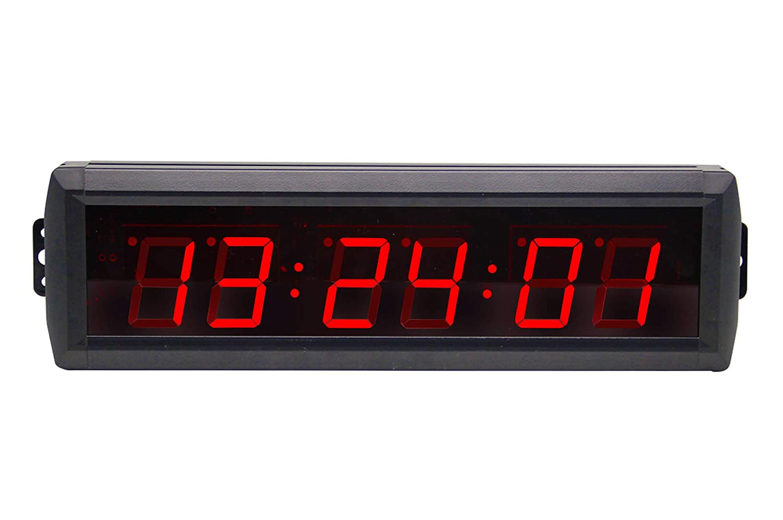 Huanyu LEDタイマー 1.8インチ6桁 カウントダウン 時計 ストップウォッチ タイマー 会議/スピーチ/活動/オフィス/学校/体育館用 B07HL5QW9R