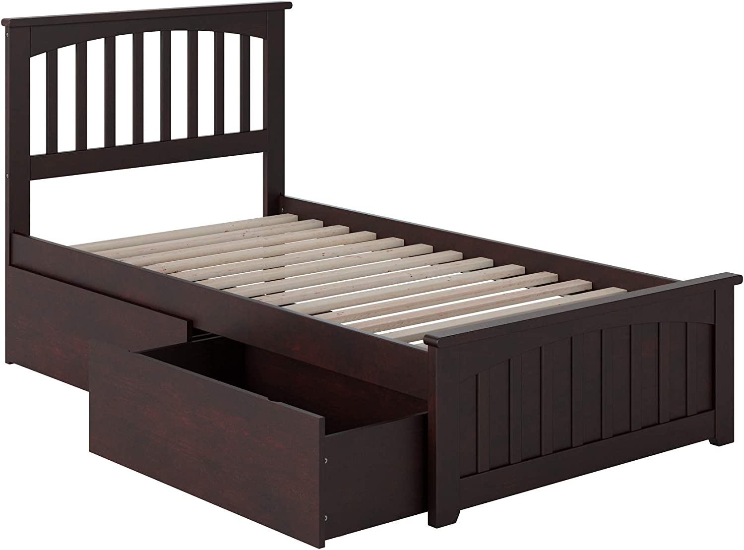 Atlantic Furniture Mission Bed, Twin, Espresso