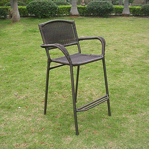 International CaravanInternational Caravan Maui Resin Wicker/Steel Bar Bistro Chair (Set of 2) (Maui Bistro)