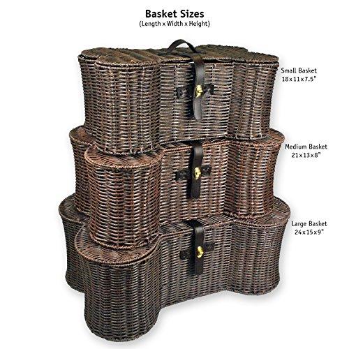 Dii bone dry small wicker like bone shape storage basket Q home decor marina mall