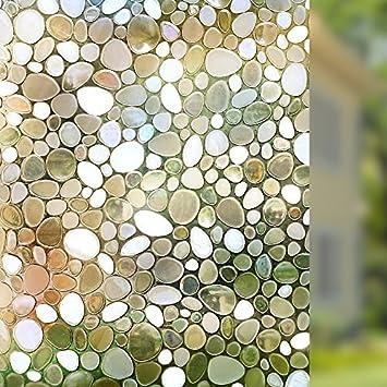 rabbitgoo privacy window film decorative window film static cling window film 177in by 787 - Decorative Window Film