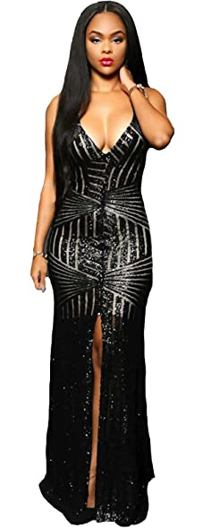 Pretty Bash Glam Sequin Long Evening Dress for Cocktail Reception Wedding Bridesmaid or Prom Dress (