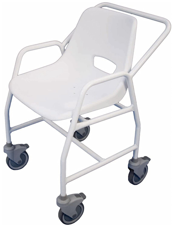 Amazon.com: Aidapt Hythe – Silla móvil silla de ducha con ...