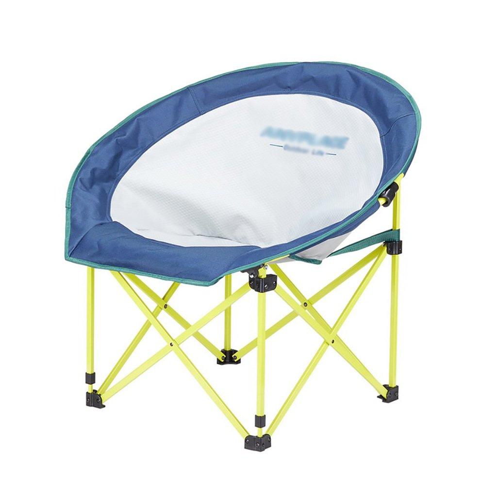 折りたたみ椅子屋外レジャームーンチェア怠惰な椅子キャンプチェア機器 (色 : Blue)  Blue B07FDMW1CJ