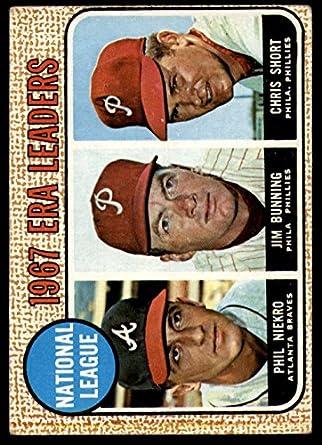 Amazon.com: 1968 Topps # 7 NL ERA Leaders Jim Bunning