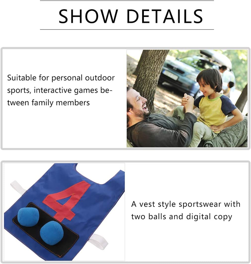 Props Vest With Sticky Ball Throwing Outdoor Fun Sports HFTM