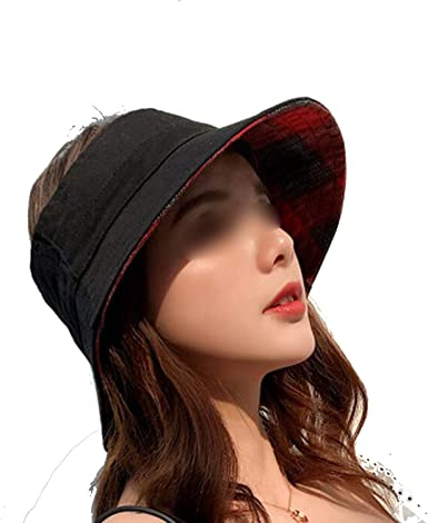 Elibone Large Brim Floppy Floppy Hat Sun Hat Beach Women Hat Foldable Summer UV Protect Travel Casual Hat Female