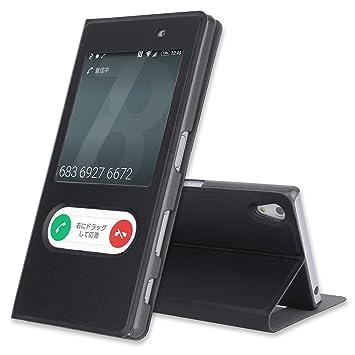 59ac900542 Amazon | Xperia Z5 ケース 手帳型 窓付き Docomo SO-01H 手帳ケース ...