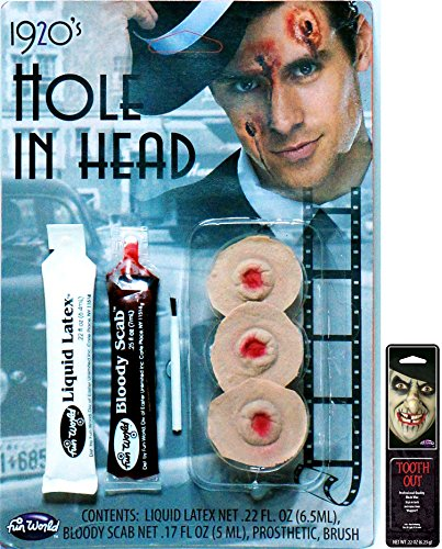 Potomac Banks Victim FX Kits (Hole in Head) with Free Pack of Makeup -