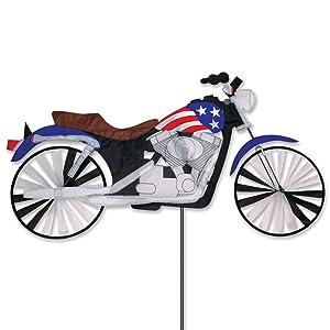 47 In. Motorcycle Patriotic Spinner