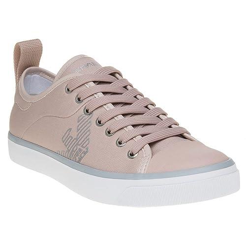 5cb8f7b00eb58 EMPORIO ARMANI Logo Pump Trainers Nude: Amazon.co.uk: Shoes & Bags