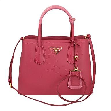 269f0aedb282 ... netherlands prada saffiano cuir double mini tote bag pink 7e510 63336