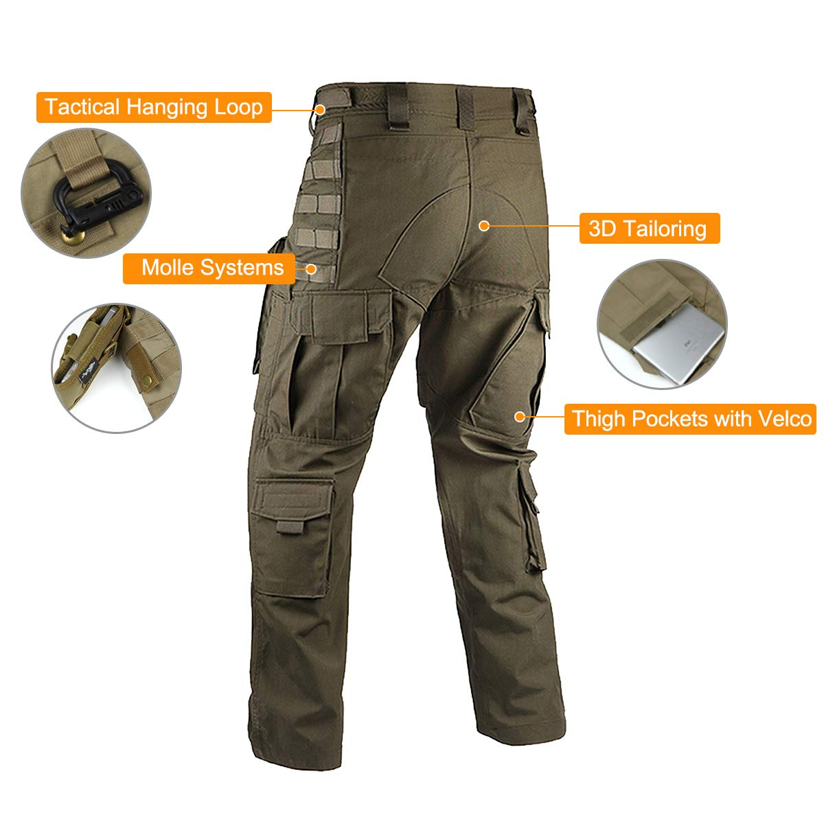 ad1912f2d6c4 FREE SOLDIER Outdoor Men Teflon Scratch-Resistant Pants Four Seasons Hiking  Climbing Tactical Trousers larger image