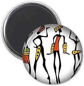 Primitive Africa Aboriginal Black Dance Totems Refrigerator Magnet Sticker Decoration Badge Gift