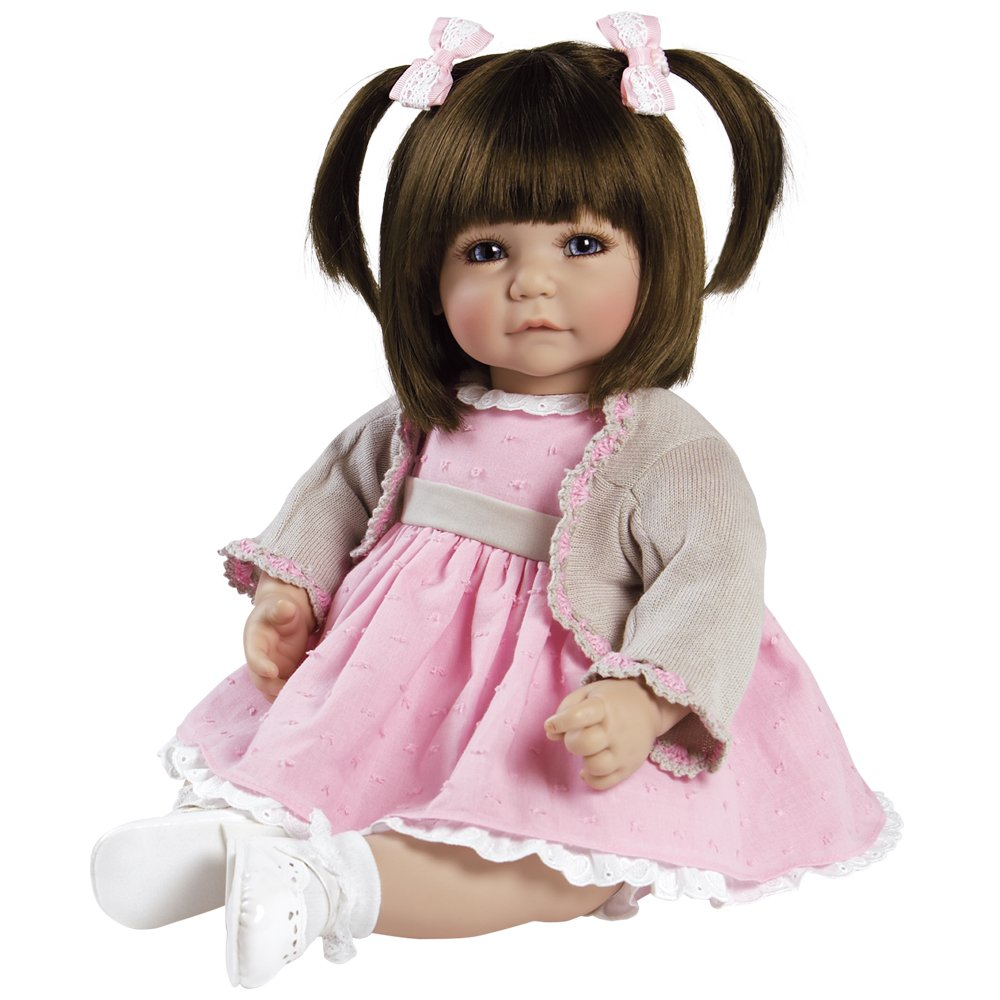 Adora Toddler Sweet Cheeks 20'' Girl Weighted Doll Gift Set for Children 6+ Huggable Vinyl Cuddly Snuggle Soft Body Toy