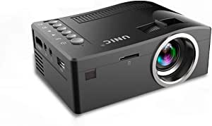 Mini Projector LED Mini Portable Projector Supported Video Projector, Compatible with HDMI, TF, AV, USB IR for Home Theater, Great for Movie Nights and Video Games (White)