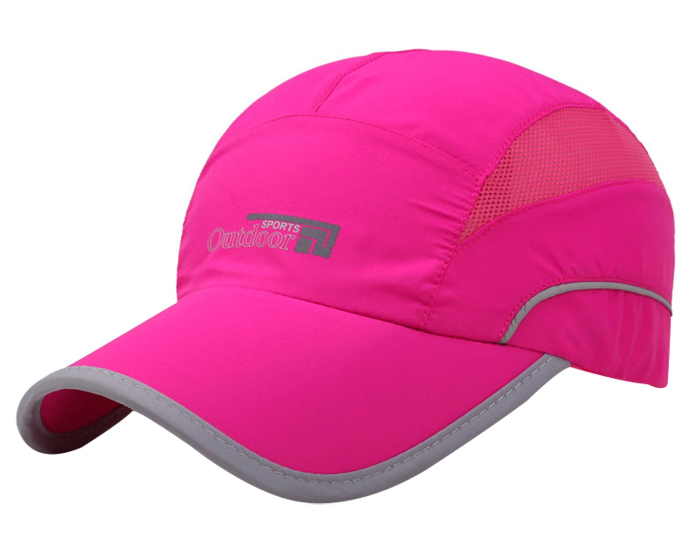 Aivtalk Baseball Cap Quick Dry Sun Hats UPF50+ Cooling Portable Travel Hats for Sports Golf Running Fishing Outdoor Research with Foldable Long Large Bill Rose