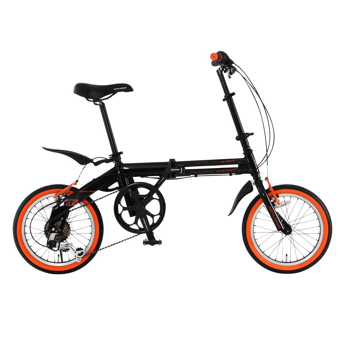 DOPPELGANGER(ドッペルギャンガー) 折りたたみ自転車 FALTRADシリーズ BLACKBULLET II 104-DP 16インチ 軽量アルミフレーム採用モデル B004D257NG
