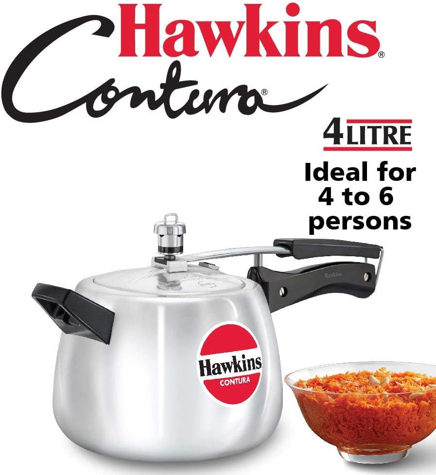 Hawkins HC40 Contura 4-Liter Pressure Cooker, Small, Aluminum