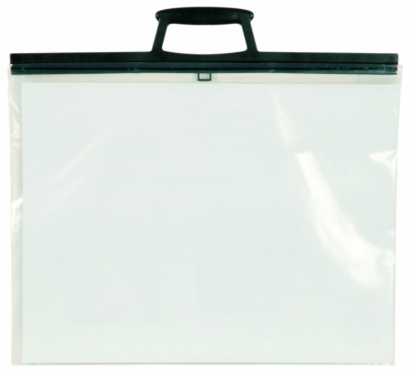 West con maniglia Busta porta disegni in formato A3 in plastica trasparente
