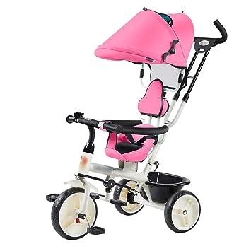Qi Tai- Carrito de bebé Triciclo Ligero para niños de 1 a 3 años Cochecito