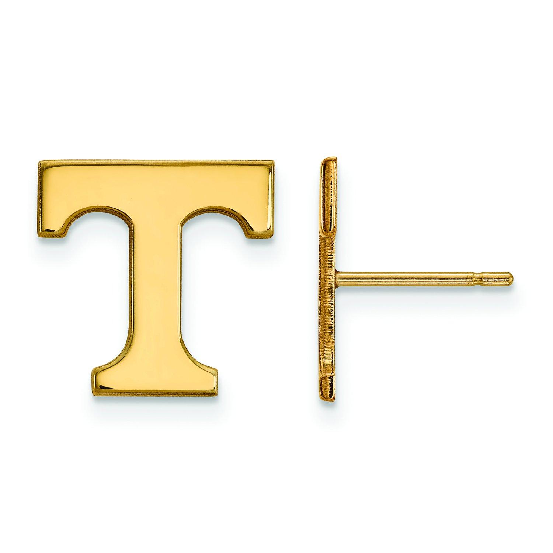 テネシー州Small ( 1 / 2インチ)ポストイヤリング(ゴールドメッキ)   B01J013NUS
