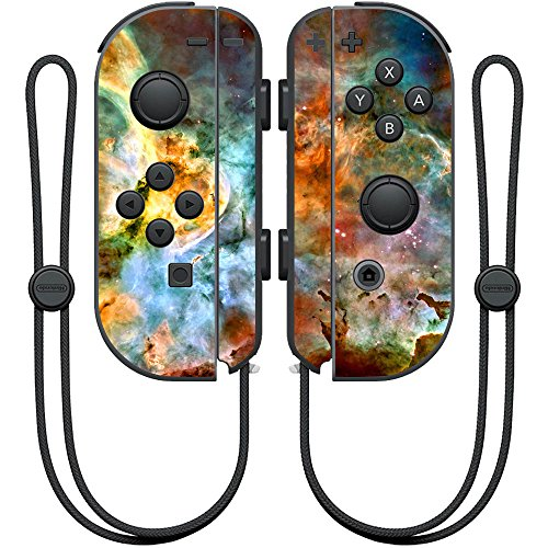 MightySkins Skin Compatible with Nintendo Joy-Con Controller wrap Cover Sticker Skins Space Cloud