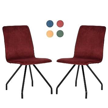 GreenForest Dining Chair Velvet High Back Padded Metal Legs Lounge Living  Room Seat Set Of 2
