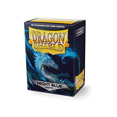 Dragon Shield Matte Night Blue Standard Size 100 ct Card Sleeves Individual Pack: Toys & Games