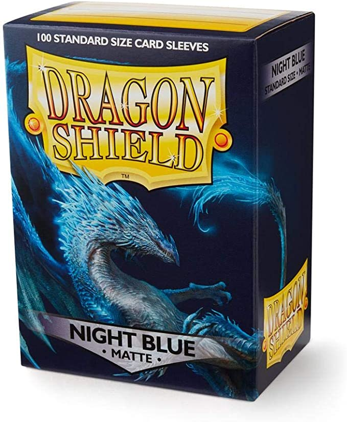 Dragon Shield 60ct Deck Protector Sleeves Japanese size Matte Night Blue