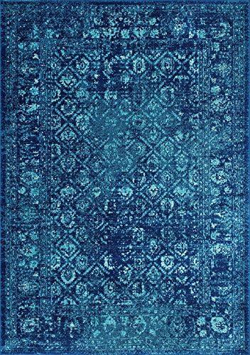 nuLOOM Herminia Vintage Trellis Runner Rug, 2 8 x 8 , Blue