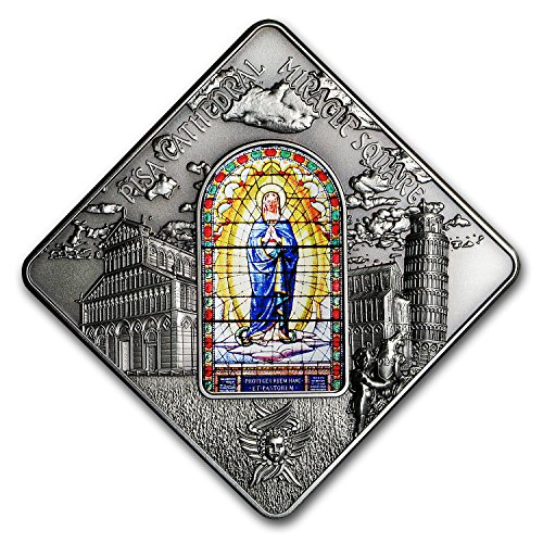 2016 DE Palau Silver $10 Sacred Art Stained Glass (Pisa Cathedral) Silver Brilliant - Glass Buying Online