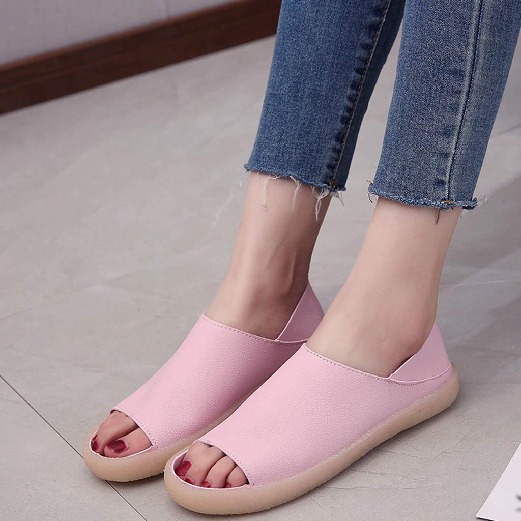 Lurryly Platform Sandals for Women,Fish Mouth Casual with Tendon Soft Bottom Slippers